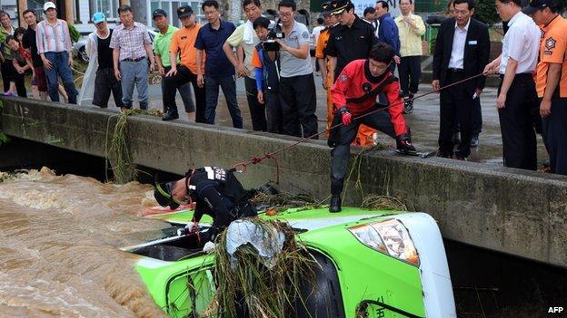 Τουλάχιστον πέντε νεκροί στη Νότια Κορέα απο τις πλημμύρες