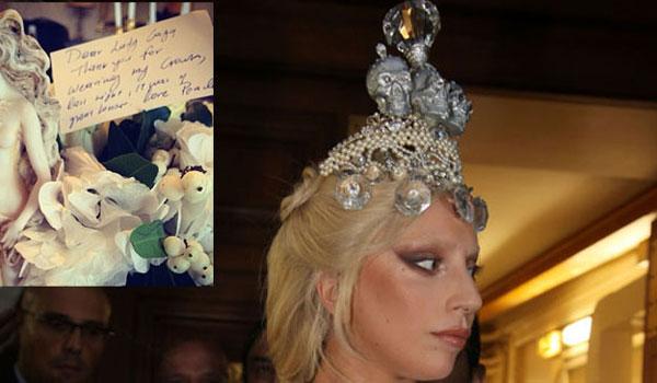 Lady Gaga: Δείτε τι έγραψε για το εντυπωσιακό στέμμα της