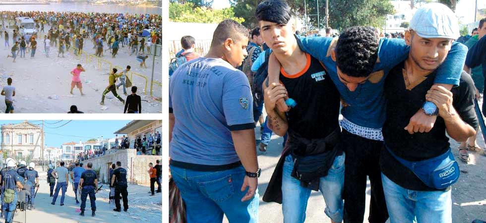 Πετροπόλεμος στη Μυτιλήνη μεταξύ Μεταναστών – αστυνομικών
