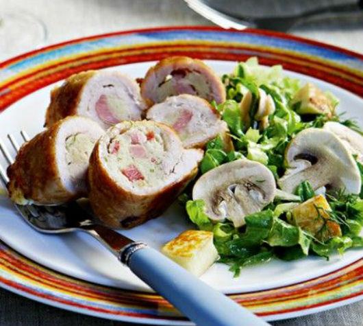 Τι θα φάμε σήμερα; Τυλιχτά σνίτσελ με γέμιση πατάτας