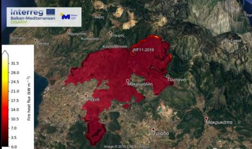 Ενεργοποιήθηκε το προγνωστικό σύστημα IRIS – Το χειρότερο σενάριο για την πυρκαγιά στην Εύβοια