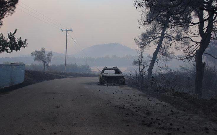 Εικόνες τεράστιας καταστροφής αποκάλυψε το πρώτο φως του ήλιου στην Εύβοια