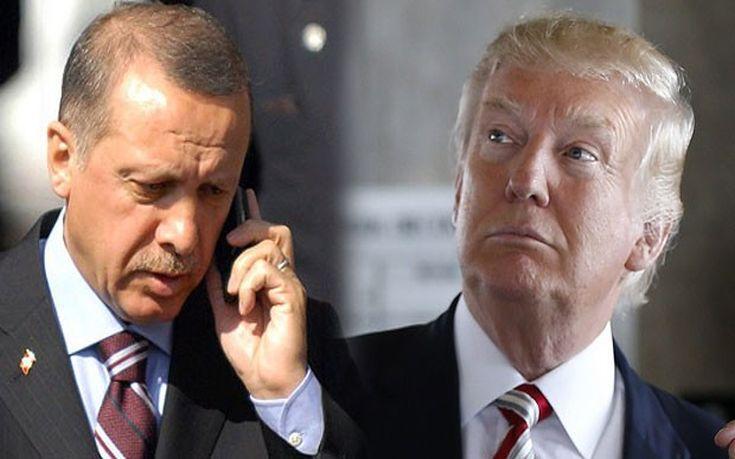 Τηλεφωνική επικοινωνία Τραμπ-Ερντογάν