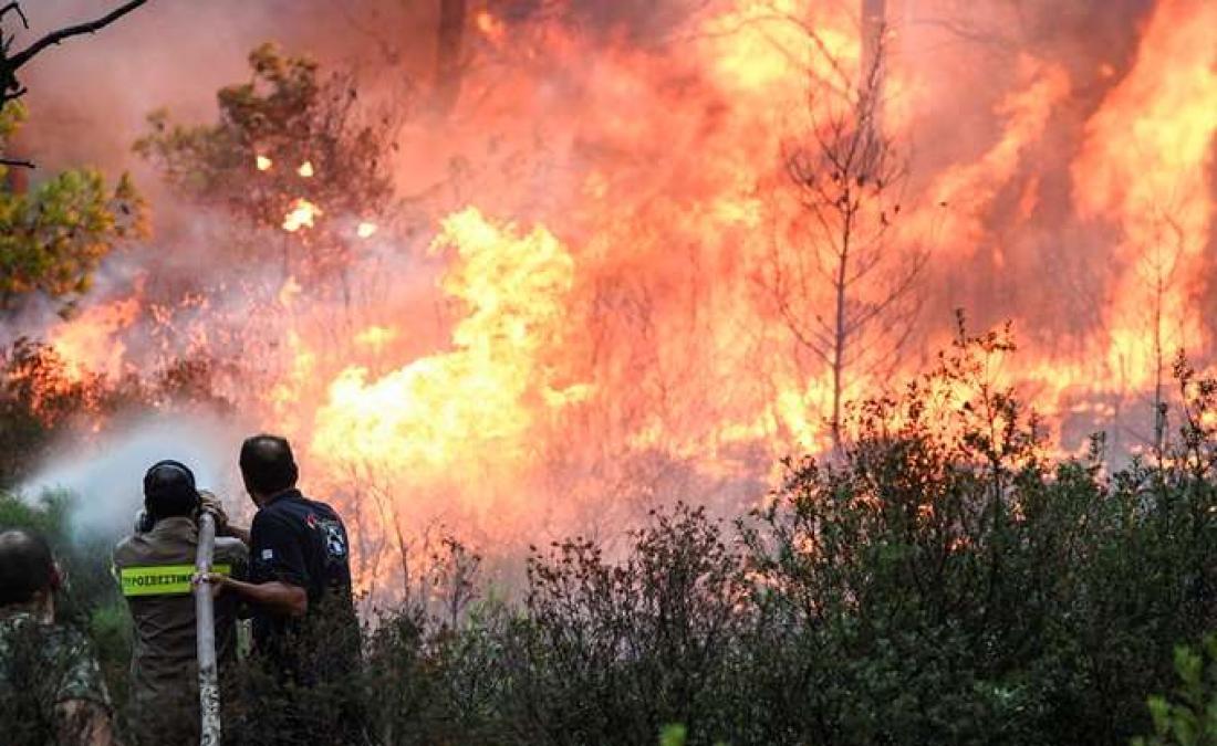 Κεφαλονιά: Πέντε εστίες πυρκαγιάς εκδηλώθηκαν μέσα σε λίγη ώρα