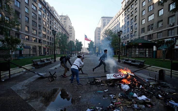 Ταραχές στη Χιλή: Στους 11 ανήλθε ο αριθμός των νεκρών