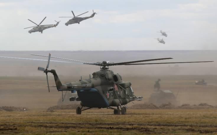 Η Ρωσία αναπτύσσει στρατιωτικά ελικόπτερα για περιπολίες στα σύνορα Τουρκίας-Συρίας