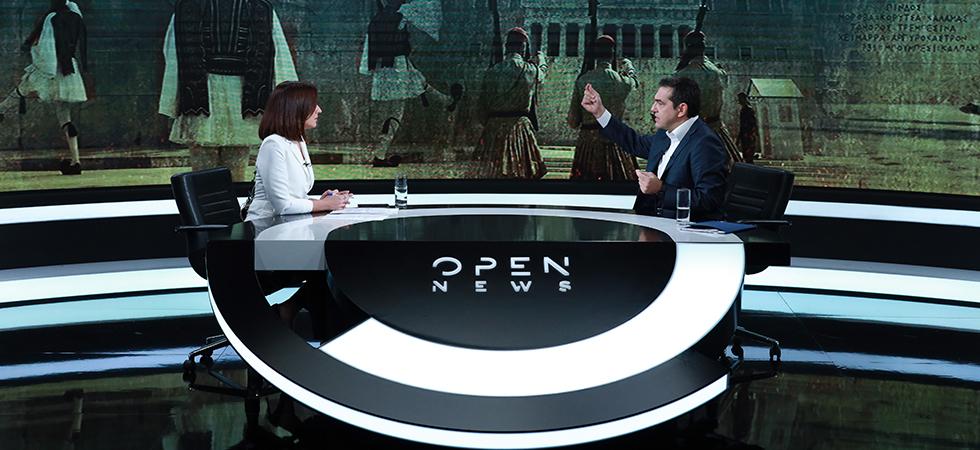 Τσίπρας στο OPEN: Γελοίες οι αλλαγές στον ποινικό κώδικα για τις μολότοφ