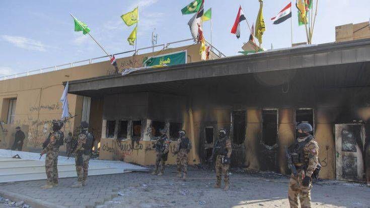 Οι τρεις από τις πέντε ρουκέτες χτύπησαν το κτίριο της πρεσβείας των ΗΠΑ στην Βαγδάτη